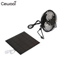 Solar Pane with Fan Player 4inches Fan USB Fan Portable Travel Solar Charger Pane Fast Charger