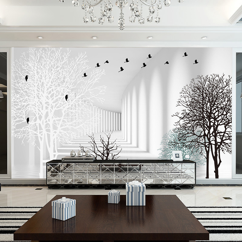 beibehang Custom high-grade minimalist modern living room mold mildew photo 3d wallpapers abstract woods TV backdrop wallpapers