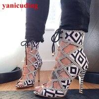 Женские туфли лодочки на высоком каблуке; женская обувь с открытым носком на шнуровке; Цвет черный, белый; Chaussures Femmes zapatos mujer