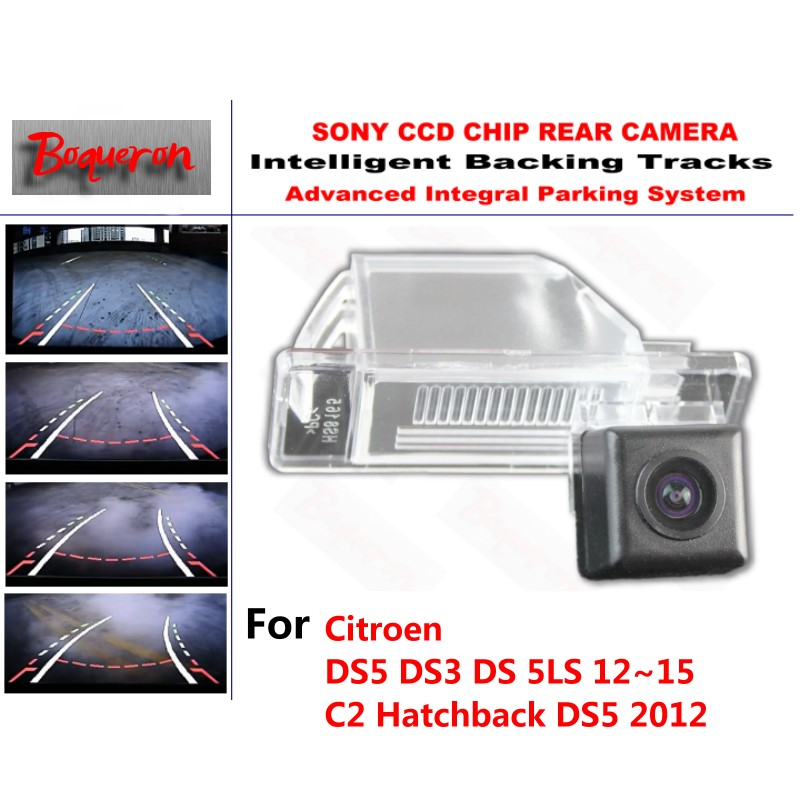 for Citroen DS5 DS3 DS 5LS C2 2012~2015 CCD Car Backup Parking Camera Intelligent Tracks Dynamic Guidance Rear View Camera