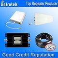 2017 Lintratek GSM 900 МГц 3 Г UMTS 2100 МГц Dual Band Сигнала усилитель Два ЖК-Дисплеи Мобильных Телефонов Сигнал Повторителя 3 Г Антенны комплекты