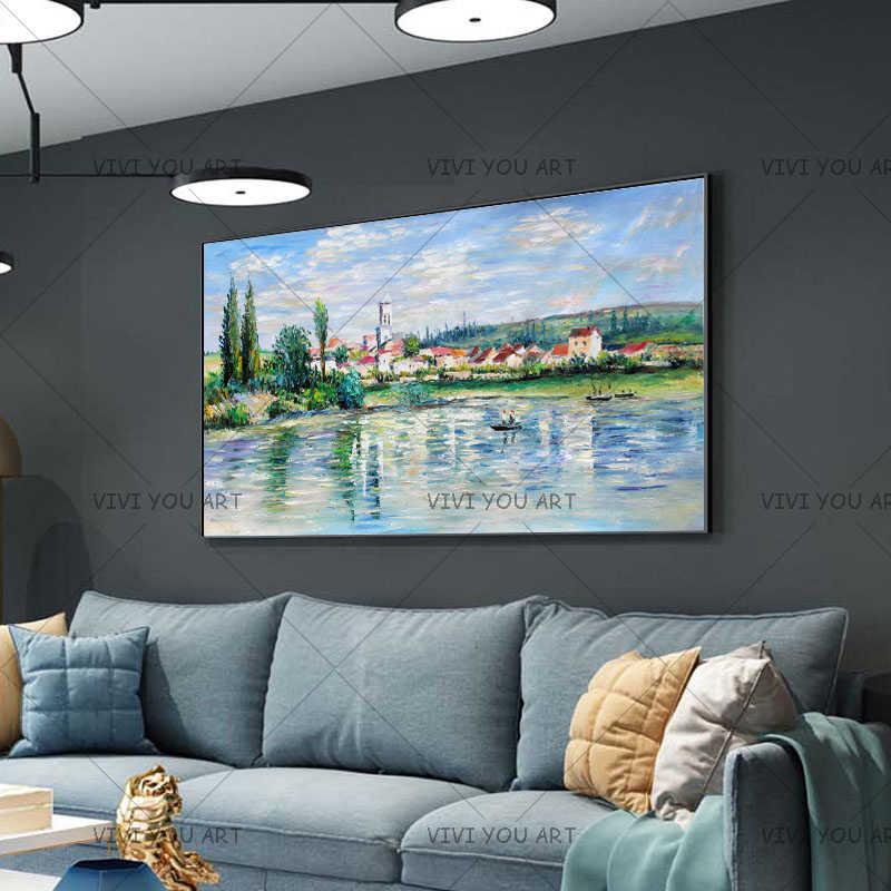 Клода монета-пейзаж в порте картины маслом на стену воспроизводство импрессиониста стены искусства холст картины для гостиной