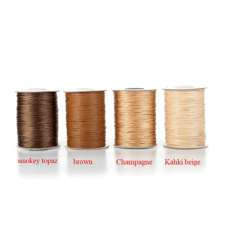 0.5mm 90 Yards Colorful Waxed Cords Threads Rope for Beading Project Jewelry Diy