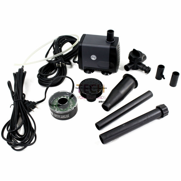 Submersible Garden Pond Decorative Water Fountain Pump with LED 2