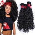 Raw Indio de la Virgen Profunda Curly Hair Extensions 8A Sin Procesar Indio Virginal Del Pelo Rizado 4 Paquetes Indio Virginal de la Armadura Del Pelo Rizado