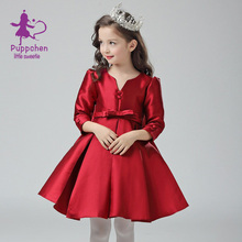 Puppchen red wedding dress baby girls clothes carnival costumes children clothing princess sequins dresses for girls kids
