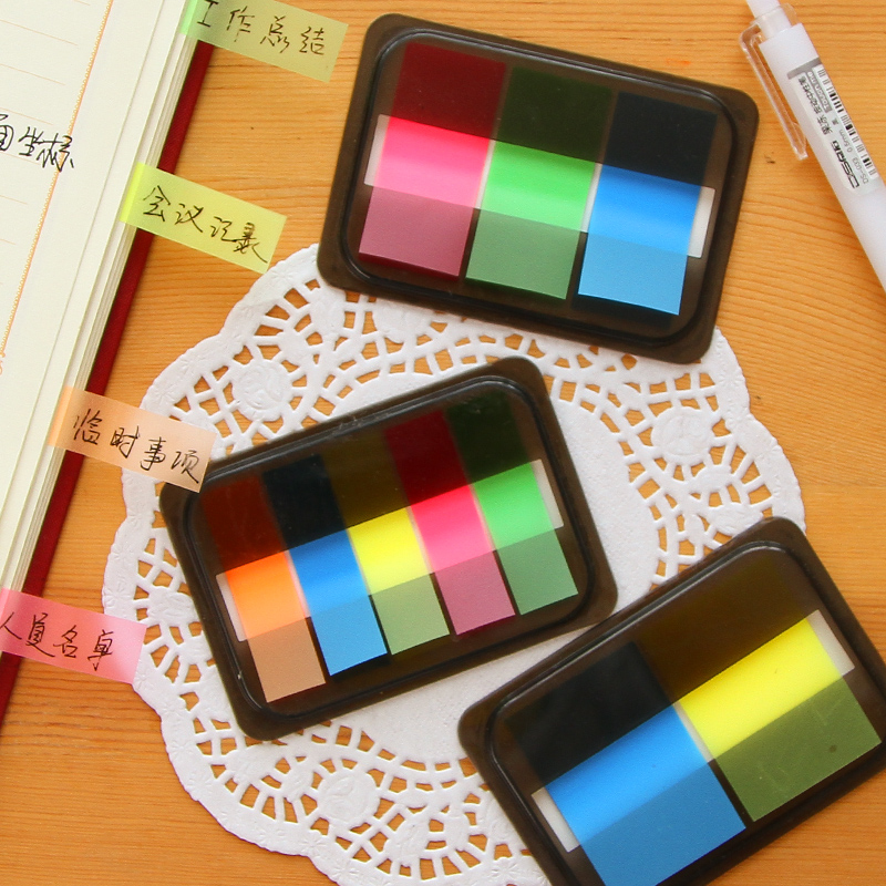 Kawaii Mini Memo Pad Sticky Marker new Stationery Sticker Post Notes Paper Bookmark Memo Pad 100 sheets sticky notes