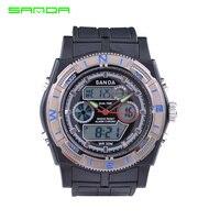 ที่มีคุณภาพสูงนาฬิกาSANDAผู้ชายแบรนด์หรูดิจิตอลอนาล็อกหลายฟังก์ชั่นกีฬานาฬิกาผู้ชายนาฬิกา...