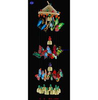 Grass Hat Wind Bell Butterfly National Wind Bell Pendant Wall Hanging Wall Feature Decoration