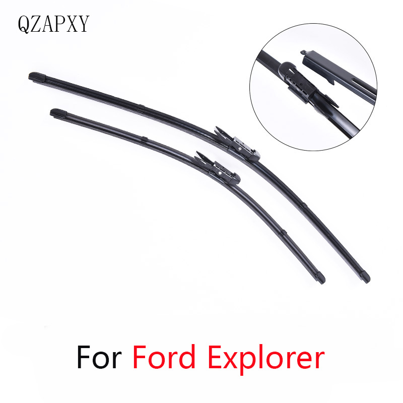 QZAPXY Wipers Blade For <font><b>Ford</b></font> <font><b>Explorer</b></font> from 2006 2007 <font><b>2008</b></font> 2009 2010 2011 to 2016 Windscreen wiper Wholesale car Car Accessories image