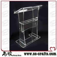 중국 아크릴 책상 lectern  현대 디자인 아크릴 lectern 만든