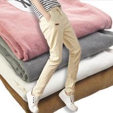 Новинка 2017 г. женские повседневные штаны вельветовые Модные свободные буквы сшивание штаны-шаровары