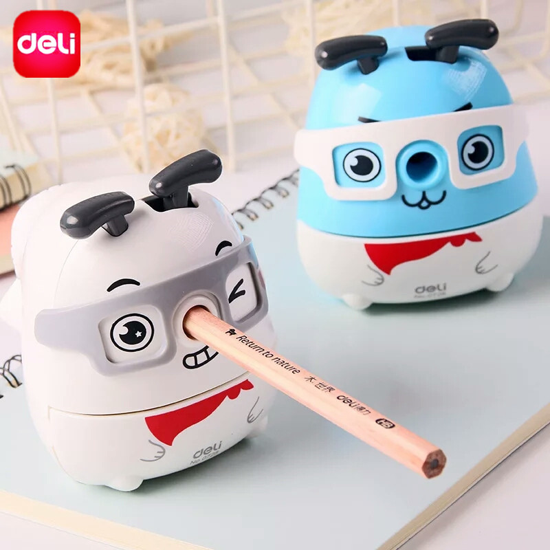 Deli Manual Pencil Sharpener Cute Kawaii Fresh Dog Hand Crank Mechanical Accessory Stationery School Chancery Office Supply deli cute stationery thomas mechanical pencil sharpener train friends give child a learning gift good quality school stationery
