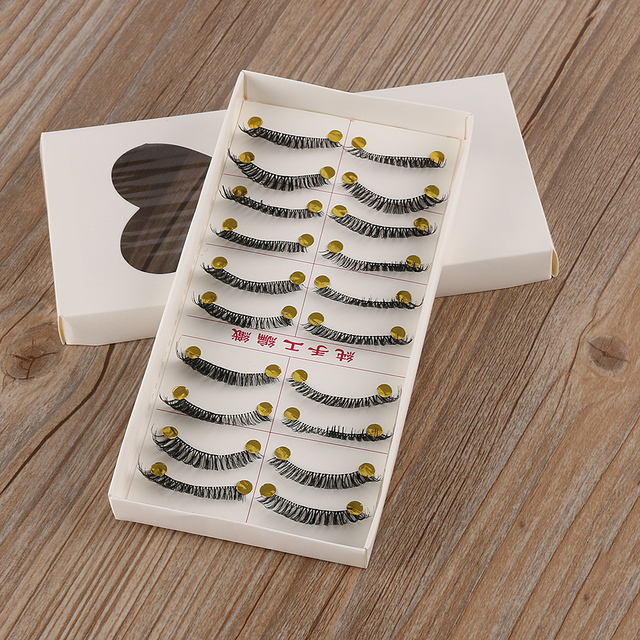 10 Pairs/set Charming Handmade Natural Fashion False Eyelashes Soft Long Thick Eye Lashes Extension Cosmetic Make Up Tools False Eyelashes