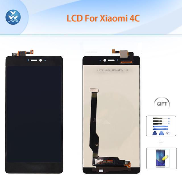 """5 """"lcd original em preto para xiaomi 4c display lcd + touch screen digitador assembléia mi4c m4c 5"""" pantalla de peças de reparo + Ferramentas + Film LCD"""