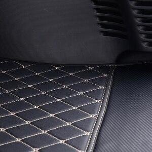 Image 4 - Kofferbak Mat Logo Decoratieve Accessoires Styling Voor Nieuwe Smart 453 Fortwo Achterste Box Geïntegreerde Lederen Anti Vuil Bescherming pad