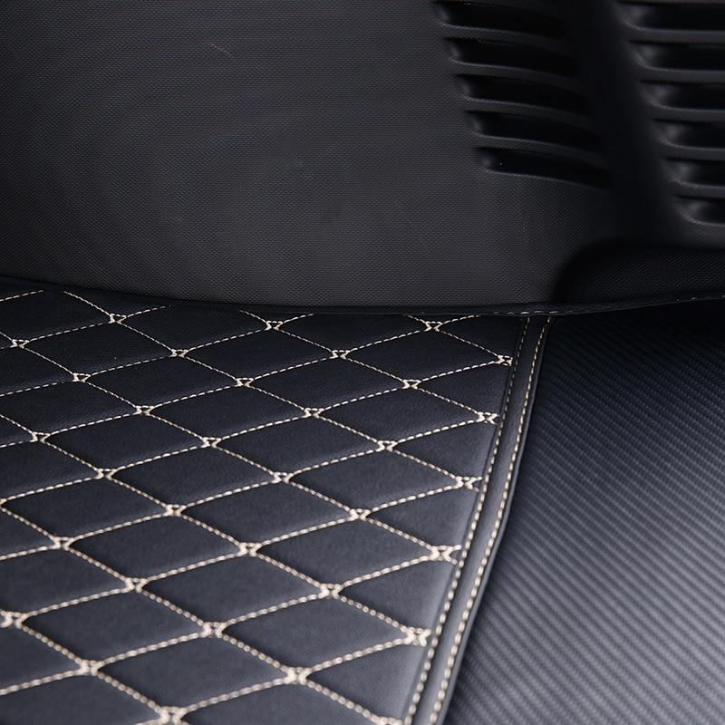 Tapis de coffre de voiture logo accessoires décoratifs style pour nouveau smart 453 fortwo boîte arrière intégré en cuir anti-sale protection pad - 4