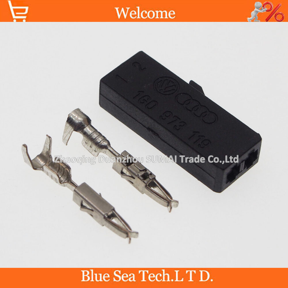 2 Pin Good quality Auto connector,Car microphone plug,Auto door plug for VW,Audi car ect.include terminal датчик lifan auto lifan 2