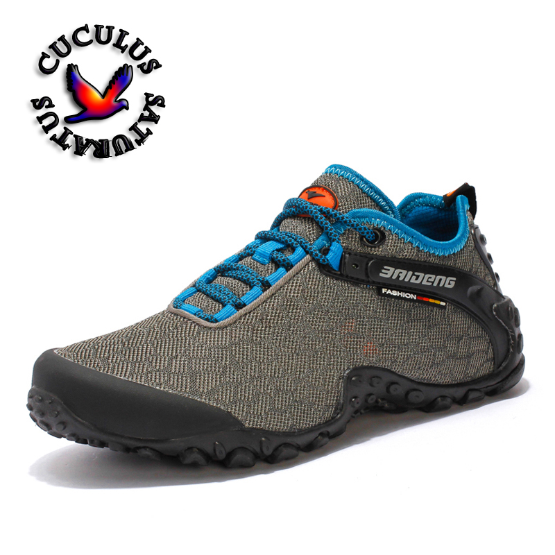 Men Women Winter Hiking Shoes Outdoor Breathable Mesh Mountain Shoes Anti-slip Outsole Cusioning Trekking Shoes for Women 8099 winter men s outdoor cotton warm sports hiking shoes sneakes men anti slip climbing athletic shoes camping chaussures trekking