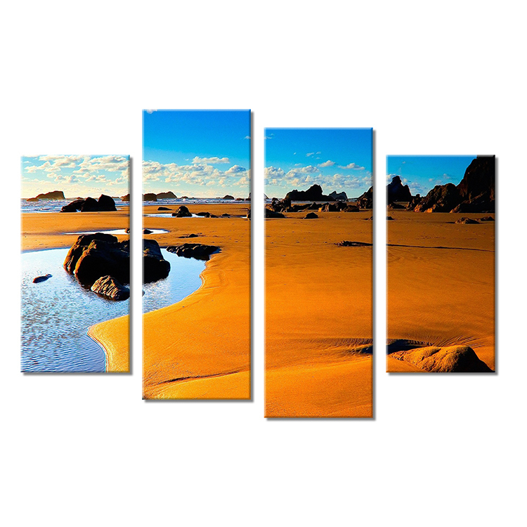 4PC DECORATIVE ART Wall painting print on canvas for home decor ideas paints on wall pictures art No framed