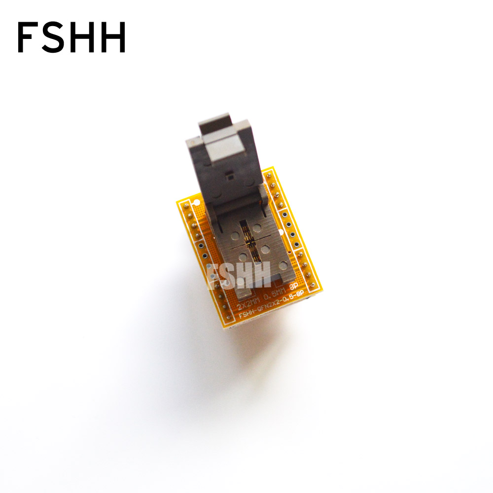 QFN8 to DIP8 Programmer Adapter WSON8 DFN8 MLF8 to DIP8 socket Pitch=0.5mm Size=2x2mm fshh qfn6 to dip8 programmer adapter wson6 dfn6 mlf6 ic test socket pitch 0 65mm size 5x5mm