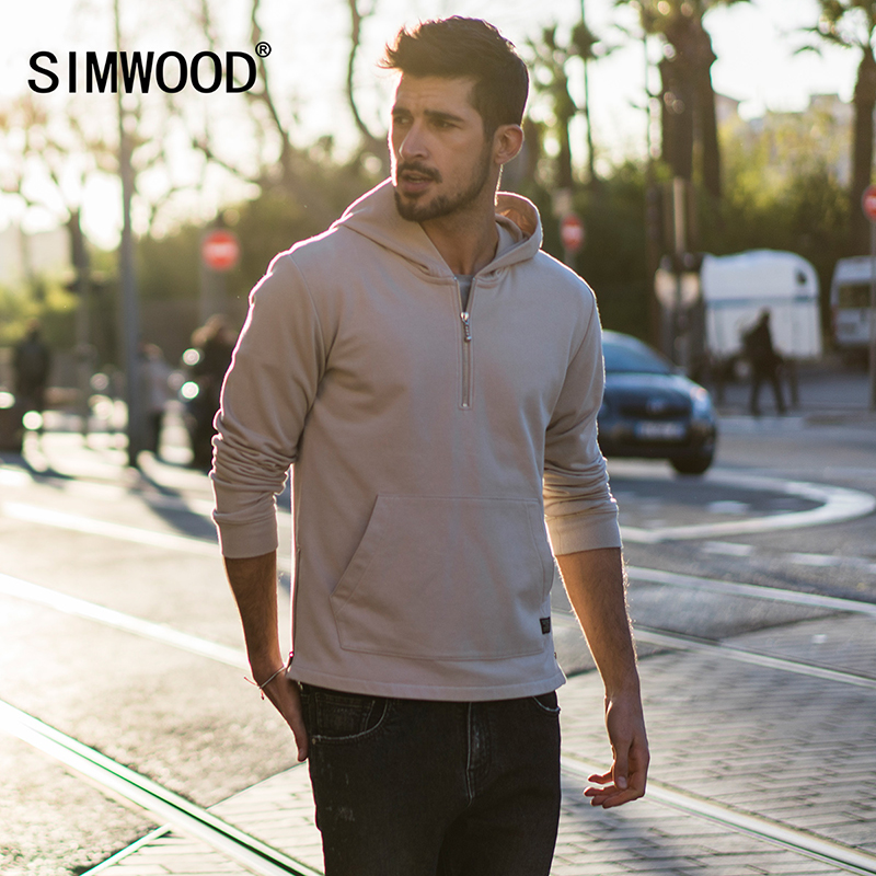SIMWOOD 2019 New Arrive Brand Hoodies spring Sweatshirts Men Casual Hoodies Plus Size Pullover Warm Clothes Tracksuits 180105