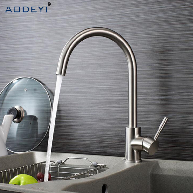 Big Promotion Solid 304 Stainless Steel Hot and Cold Kitchen Faucet Sink Mixer Tap with Aerator