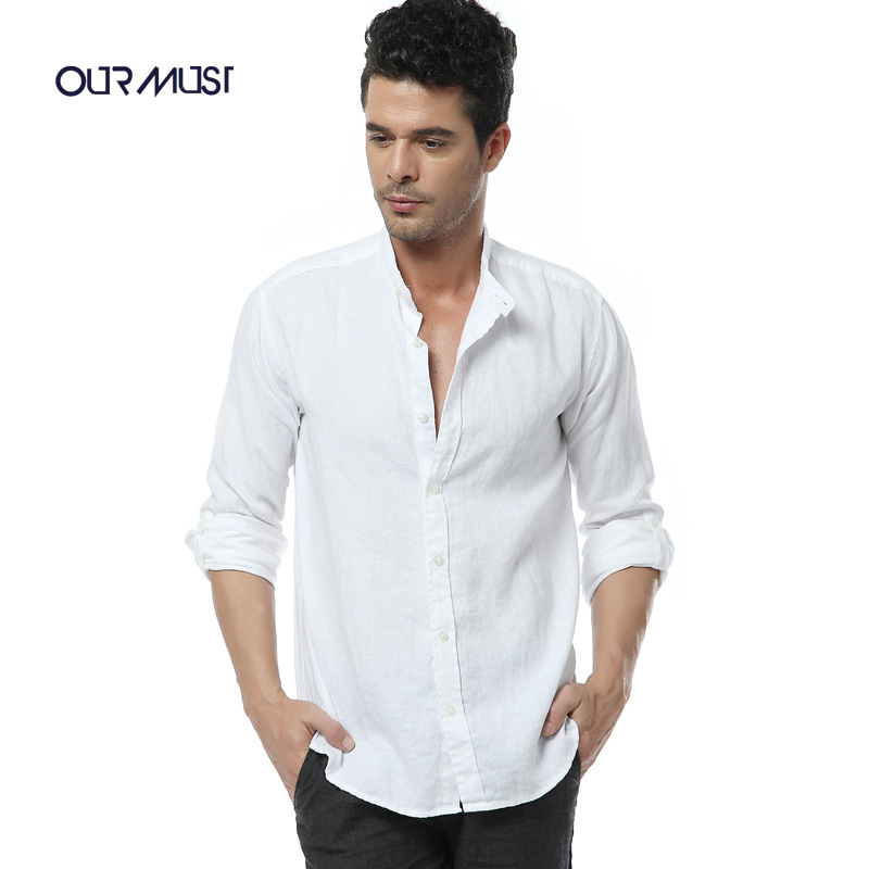 Men Shirt 2015 New Summer Tops Casual Linen Long Sleeve Shirts Men ...