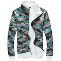 2016 Hot Sale Hoodie Men New Fashion Camouflage Fleece Mens Hoodies Sweatshirts Man Zipper Leisure Tracksuit Mens Hoodie 4XL