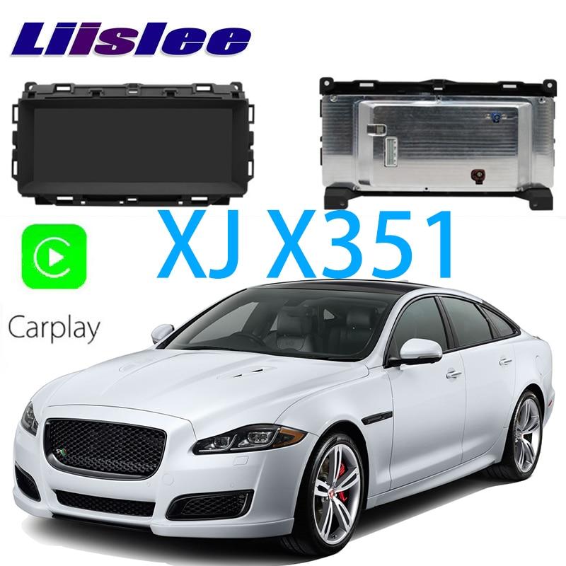 LiisLee Car Multimedia GPS Audio Hi-Fi Radio Stereo Per Jaguar XJ X351 2009 ~ 2018 Originale Stile di Navigazione NAVI