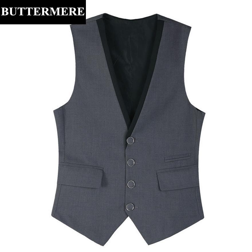 Nice Male Formal Business Vest Groomman For Green/black/brown/coffee Suit Vest V Neck Wool Herringbone Tweed Casual Waistcoat Suits & Blazers