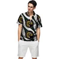 Summer Fashion Dashiki Men Dress African Clothes Print Short Sleeve Tops Man T shirt Africa Style Design Dance Festive Costume