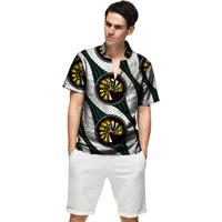 Summer Fashion Dashiki Men Dress African Clothes Print Short Sleeve Tops Man T shirt Africa Style Design Dance Festive Costume