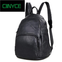 Для Мужчин's crazy horse back pack Многофункциональный натуральная кожа 14 ноутбук рюкзак коровьей кожи школы Повседневное сумка