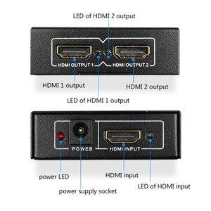 Image 3 - Rozdzielacz HDMI 1X2 HDMI 1 wejście 2 wyjście pełne HD1080p z zasilaczem do Audio HDTV 1080P Vedio DVD