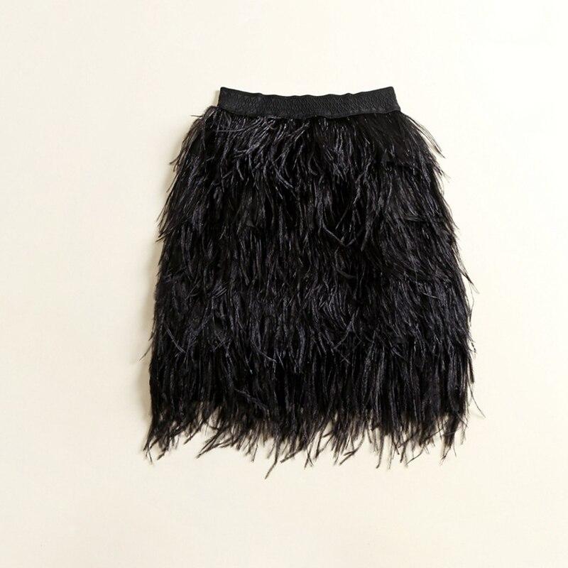 Лидер продаж Новые летние Женская Мода Роскошные Дизайн высокой растягивается Васит перья прямая юбка Bodycon Saia Falda s