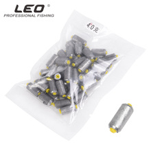 50pcs/lot LEO 27884 Fishing Lead Sinler 1g-4g Rods Plumb Pendant Artificial Circle Lure Gear Pesca 6 Size Optional