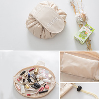 HMUNII Creative Lazy Cosmetic Bag Large Capacity Portable Drawstring Storage Artifact Magic Travel Pouch Simple Cosmetic Bag 4