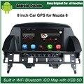 8 дюймов Емкость Сенсорный Экран Автомобиля Медиа-Плеер для Mazda 6 Mazda6 GPS Навигации Bluetooth Видео плеер с Wi-Fi