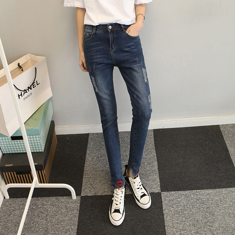 2016 american apparel plus size women jeans ripped jeans femme high waist jeans skinny jeans woman