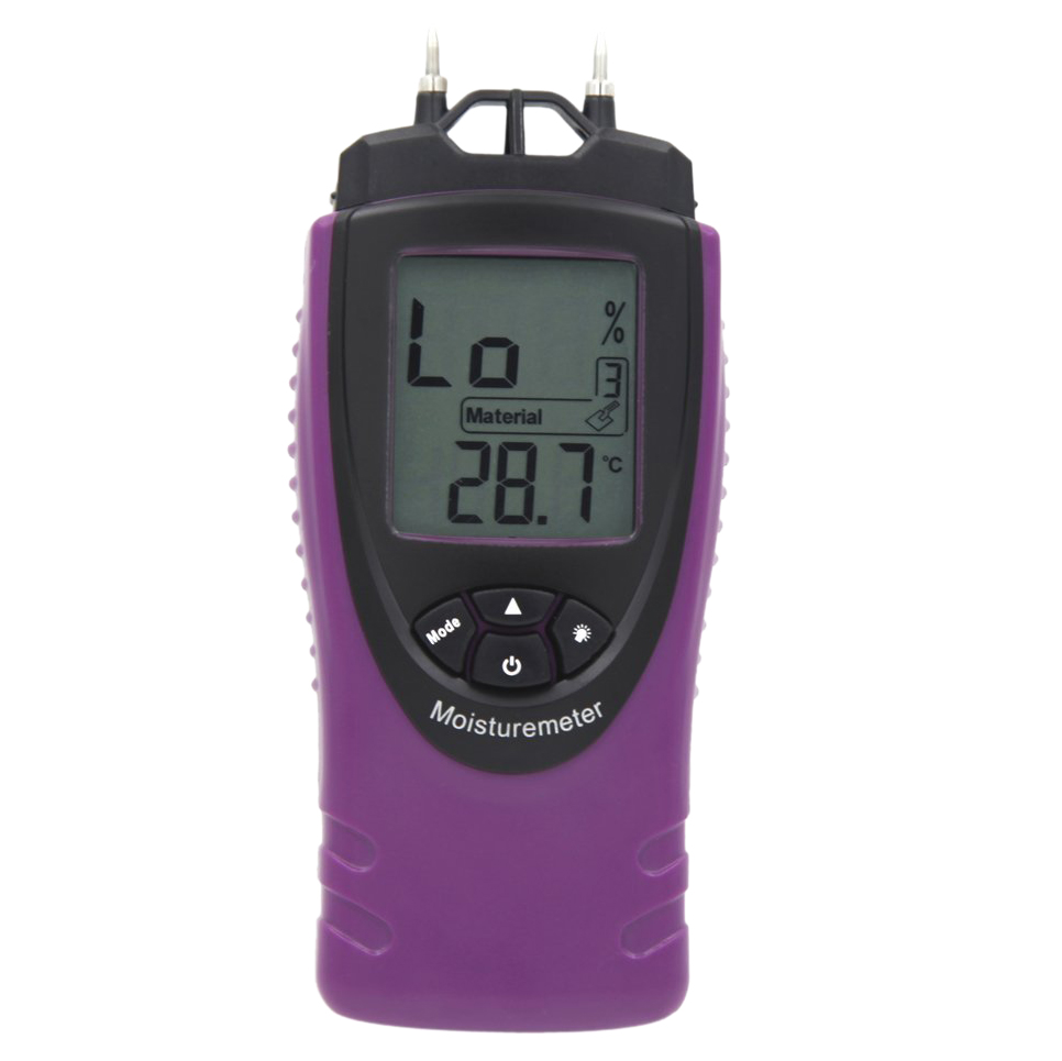 Mini Professional Handheld Digital Moisture Meter Humidity Tester for Wood Concrete Building Materials Screed,Wall LCD Display 2016 new wall and floor concrete moisture meter wall humidity moisture tester