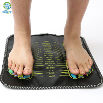 KONGDY 1 Piece Acupuncture Cobblestone Colorful Foot Reflexology Walk Stone Square Foot Massager Cushion for Relax Body 1