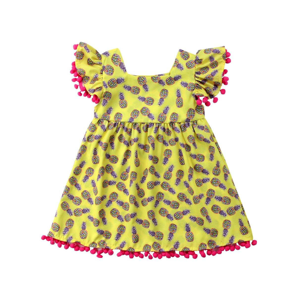 30e986b56 Detalle Comentarios Preguntas sobre Dulce princesa vestido recién nacido niños  bebé piña imprimir fiesta de cumpleaños vestidos del desfile en ...
