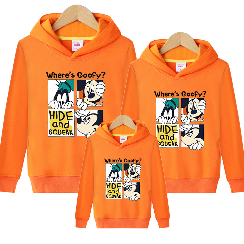 HTB1TcduVH2pK1RjSZFsq6yNlXXaW - Family Matching Outfits Kids Long Sleeves Cartoon Mickey Hoodies Coats Father Mother Daughter Son Sweatshirts Dad Mom Hoodies