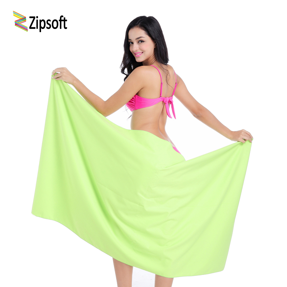 Zipsoft Brand Beach Bath Håndklær Microfiber Quick Drying for Adult Spa Body Face Wraps Blanket Travel Camping Svømmebasseng Håndkle