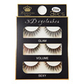 3 Pares Hechos A Mano 3D Natural a Largo Espesas Pestañas Falsas de Belleza Maquillaje Natural up-EZ3D04