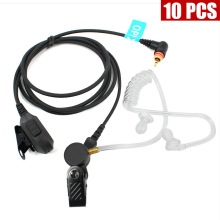 10PCS MIC Speaker PTT Earpiece Headset Covert Acoustic Tube for Motorola Radio SL7550 SL4000 SL1K MotoTRBO Walkie Talkie
