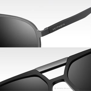Image 5 - VEITHDIA ブランドメンズアルミマグネシウムサングラス偏光 UV400 レンズ眼鏡アクセサリー男性男性/女性 V6850