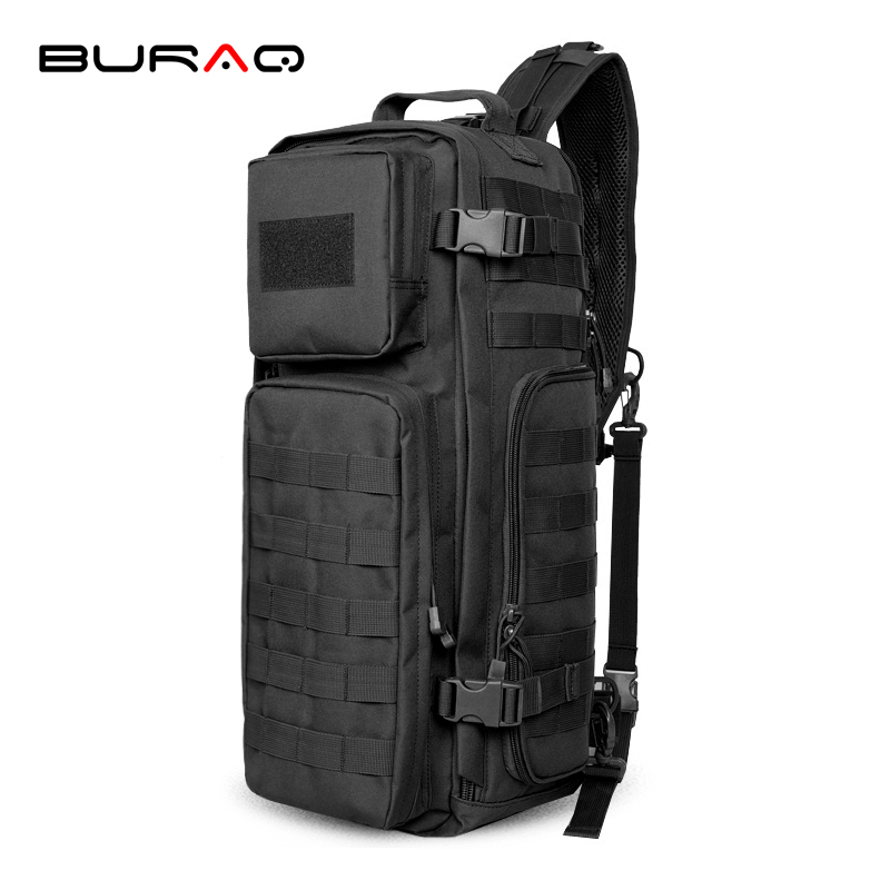 High Quality Waterproof Nylon Men Single Shoulder Cross Body Bag Military Travel Sling Rucksack Chest Back Pack Messenger T0214 hot sale men pu leather shoulder cross body bag rucksack high quality messenger bags fashion casual male single chest back pack
