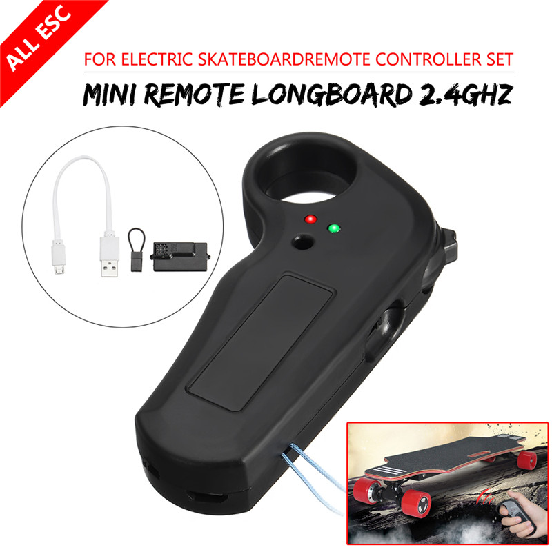 Electric Skateboard Longbaord+2.4GHz Wireless Remote Control Receiver Data Cable 4 wheel electric skateboard single driver motor small fish plate wireless remote control longboard waveboard 15km h 120kg